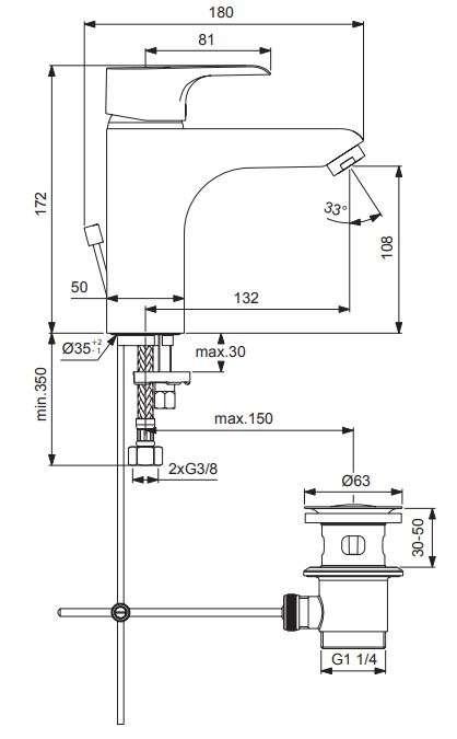 TAKE 3000 XL Waschtisch Einhebelmischer