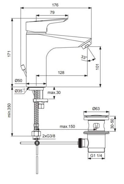TAKE 2000 XL Waschtisch-Einhebelmischer